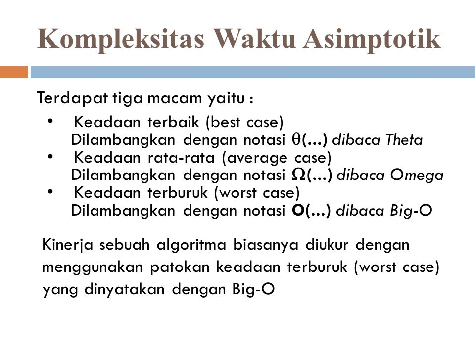 Kompleksitas Waktu Asimptotik Ppt Download