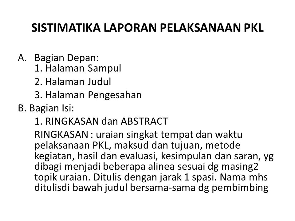 Proposal Pkl Ppt Download