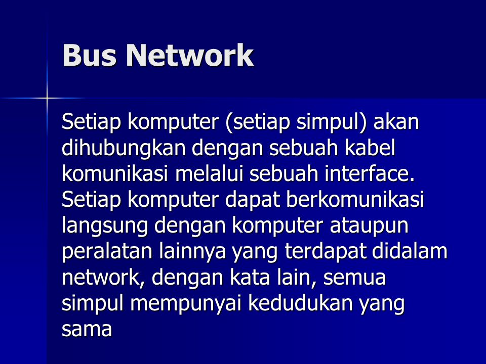 Bus Network