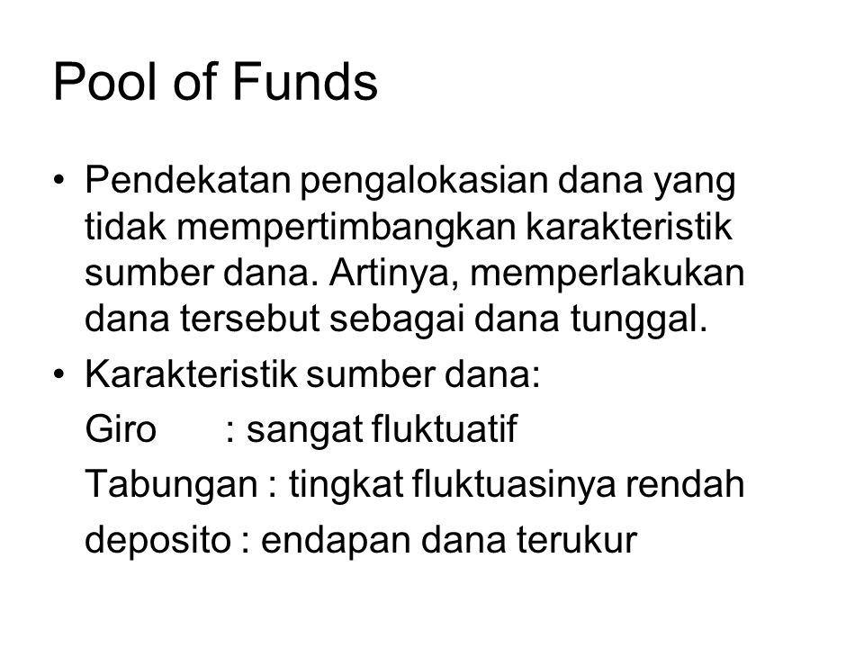Pool of Funds