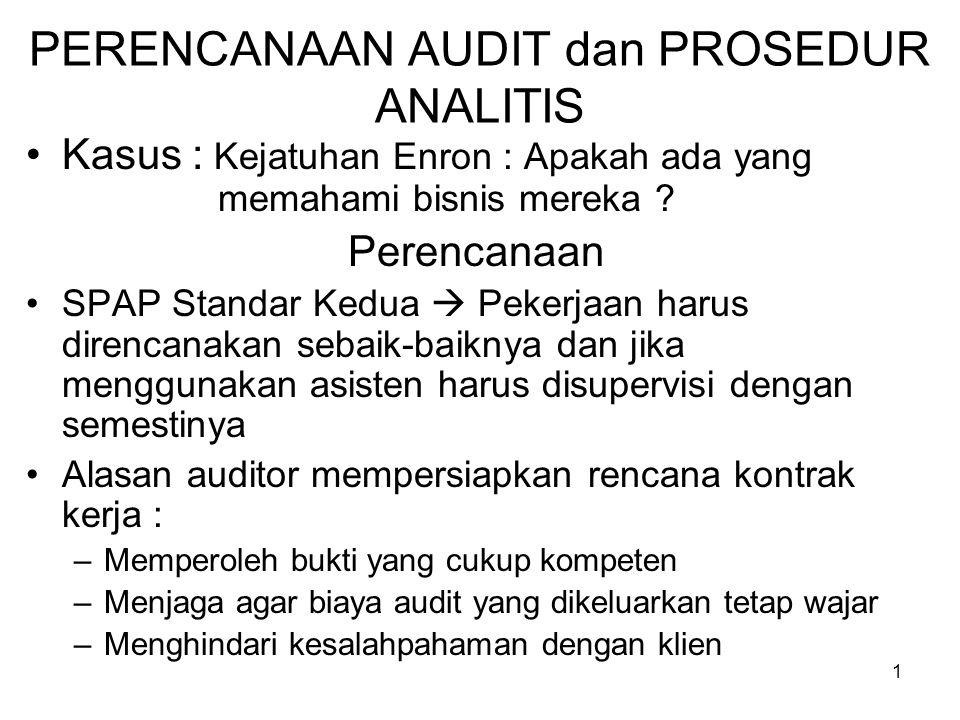 Perencanaan Audit Dan Prosedur Analitis Ppt Download
