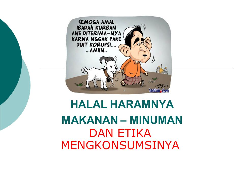 Halal Haramnya Makanan Minuman Ppt Download
