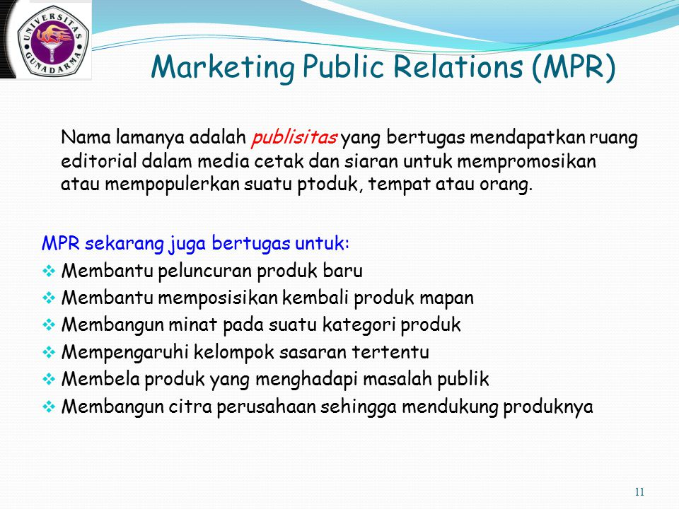 Marketing Public Relations (MPR)