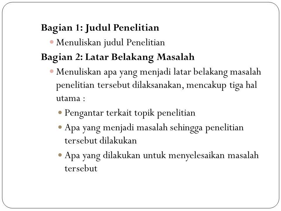 Susunan Proposal Penelitian Skripsi Ppt Download