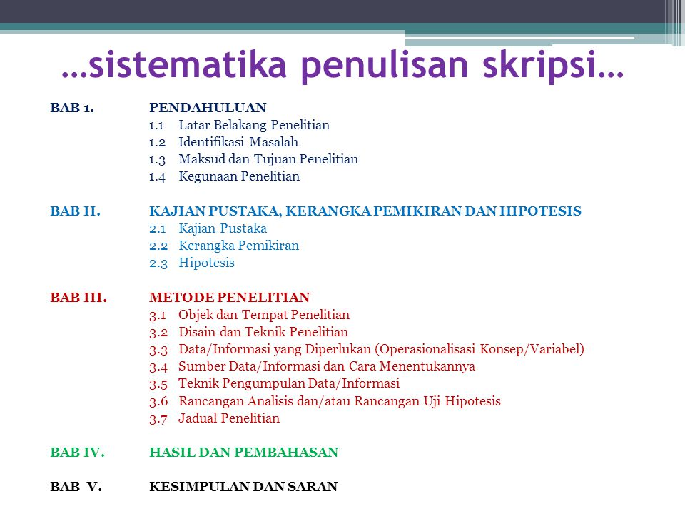Teknik Penulisan Skripsi Ppt Download