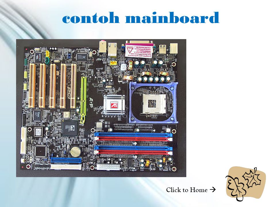 contoh mainboard Click to Home 