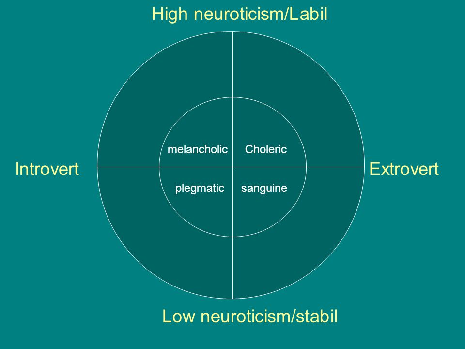 High neuroticism/Labil