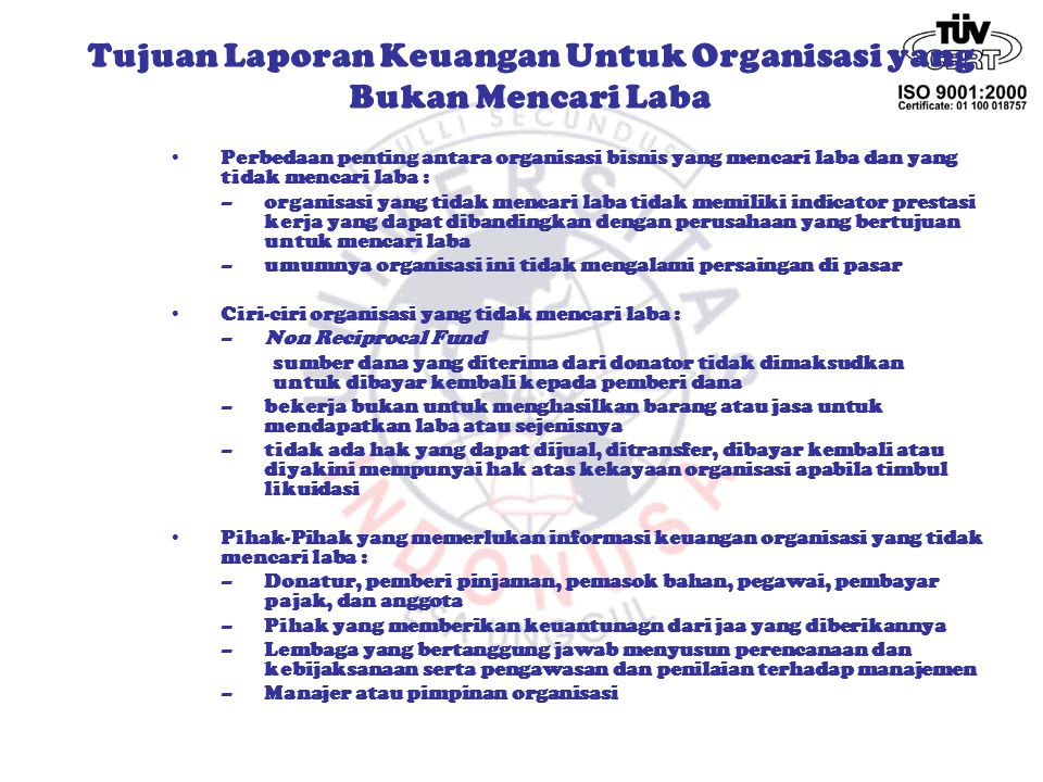 Tujuan Laporan Keuangan Ppt Download
