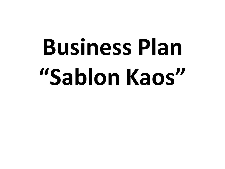 Business Plan Sablon Kaos Ppt Download