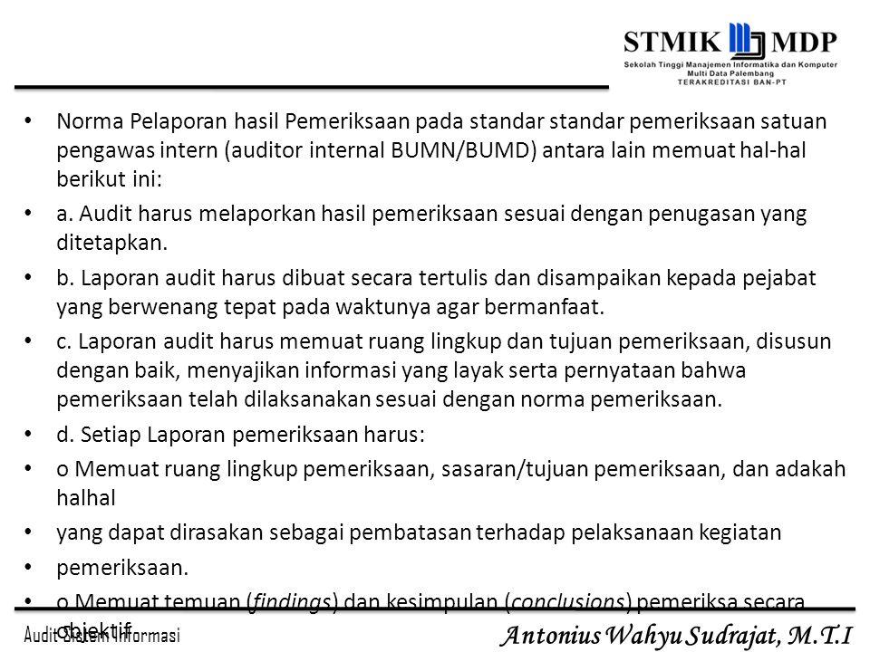 Laporan Dan Rekomendasi Hasil Audit Ppt Download