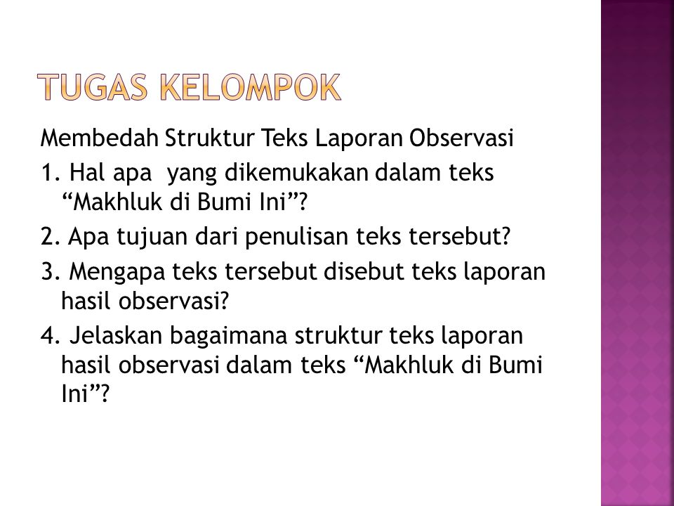 Teks Laporan Hasil Observasi Ppt Download
