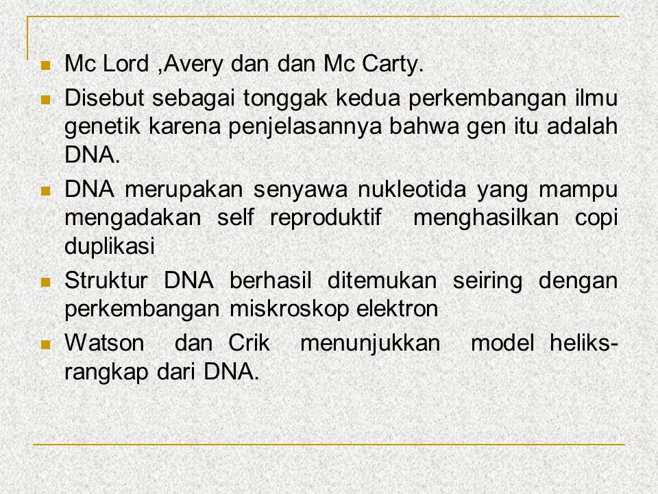 Mc Lord ,Avery dan dan Mc Carty.