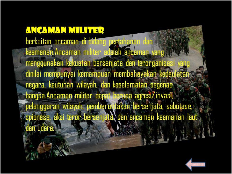 Contoh Ancaman Militer Bidang Pertahanan Dan Keamanan