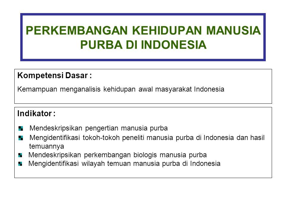 Perkembangan Kehidupan Manusia Purba Di Indonesia Ppt Download