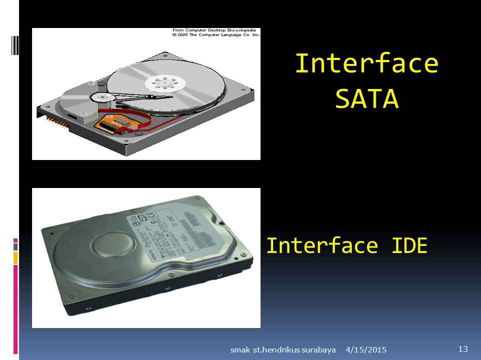 Interface SATA Interface IDE smak st.hendrikus surabaya 4/12/2017