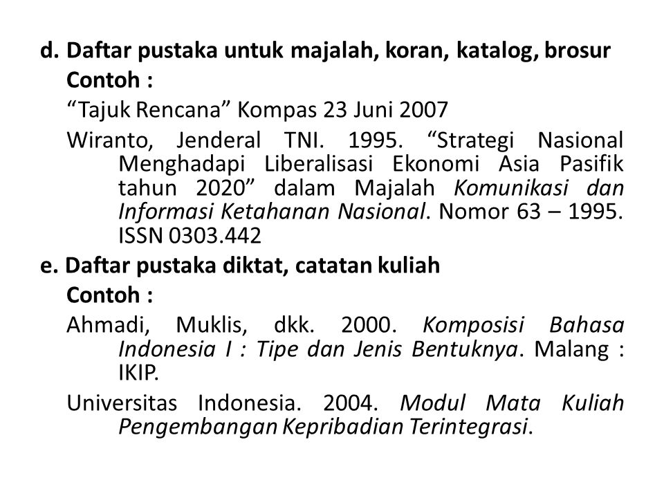 Kutipan Dan Bibliografi Ppt Download