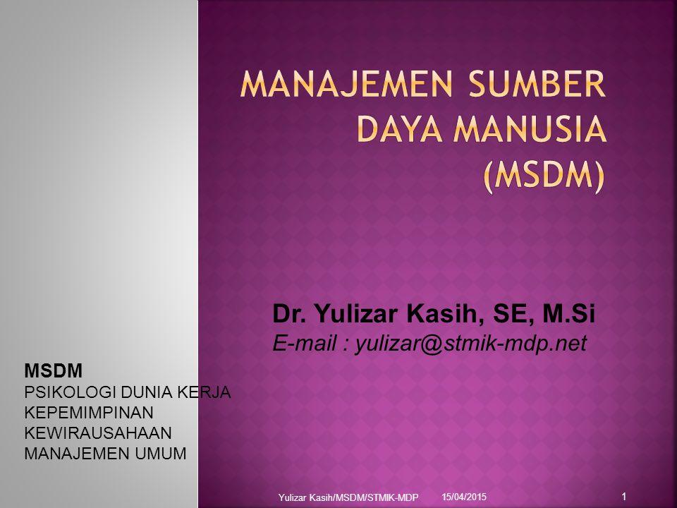 Manajemen Sumber Daya Manusia Msdm Ppt Download