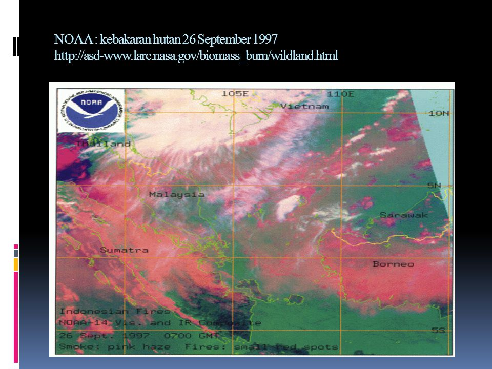 NOAA : kebakaran hutan 26 September larc. nasa