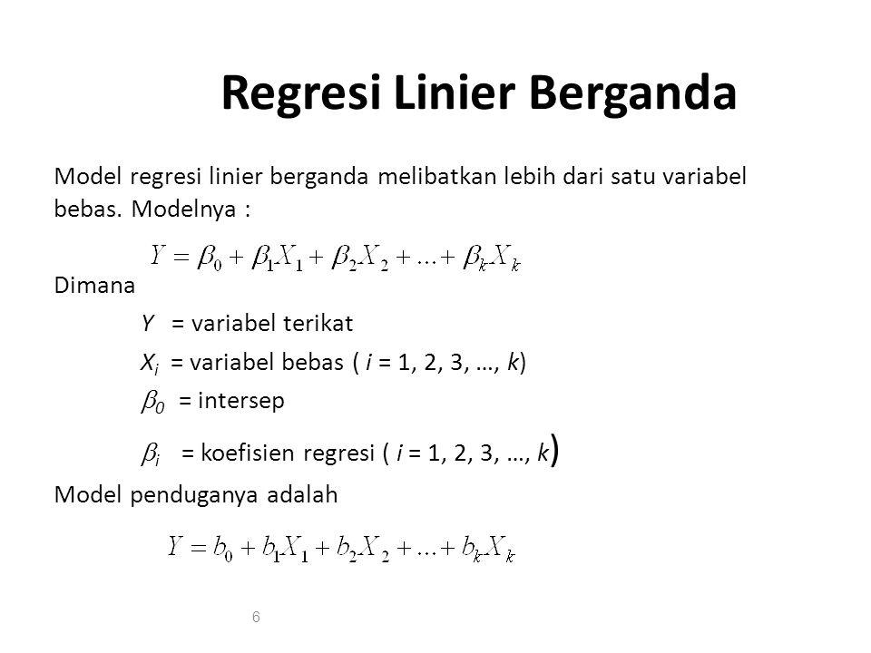 Regresi Linier Berganda Ppt Download