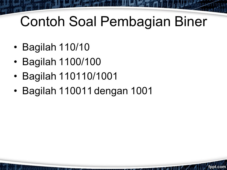 Contoh soal pembagian binary options england rugby head coach betting