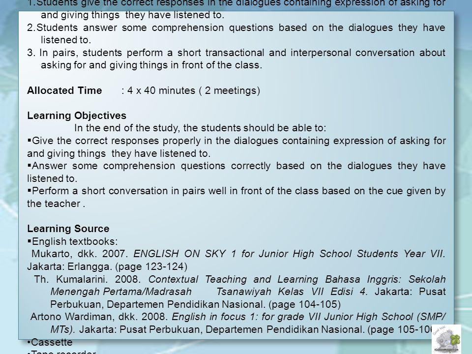 LEARNING MEDIUM School : SMPN 2 Ambarawa Subject : English - ppt