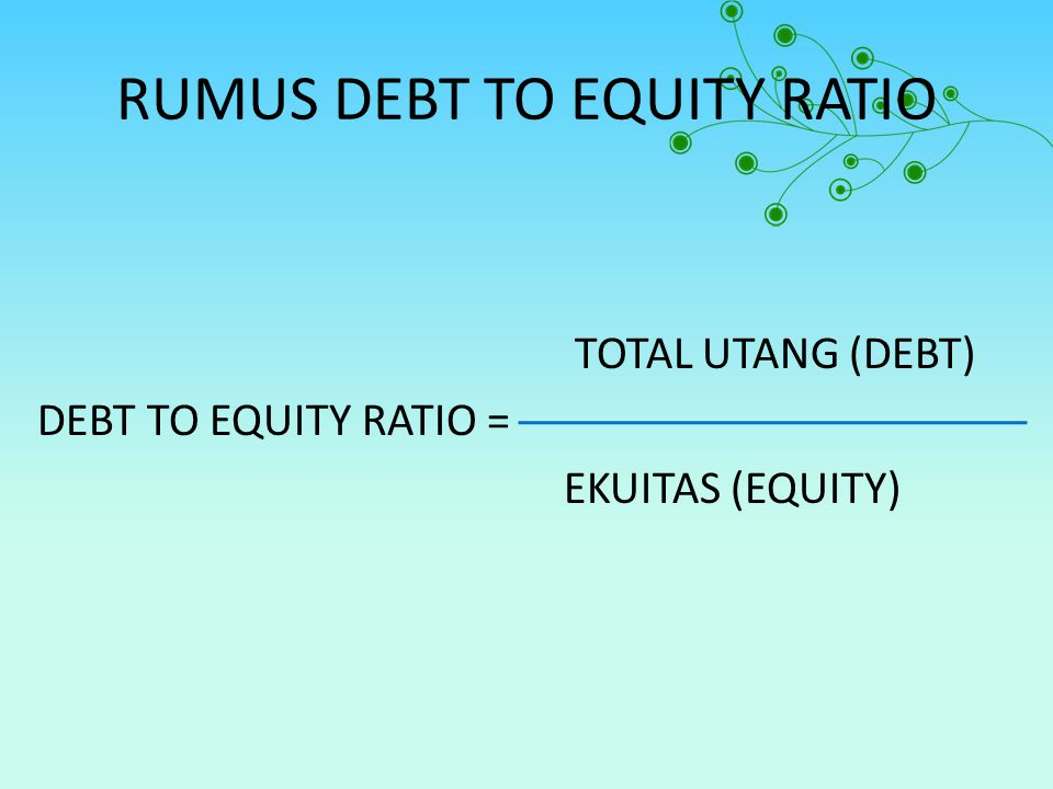 RUMUS DEBT TO EQUITY RATIO