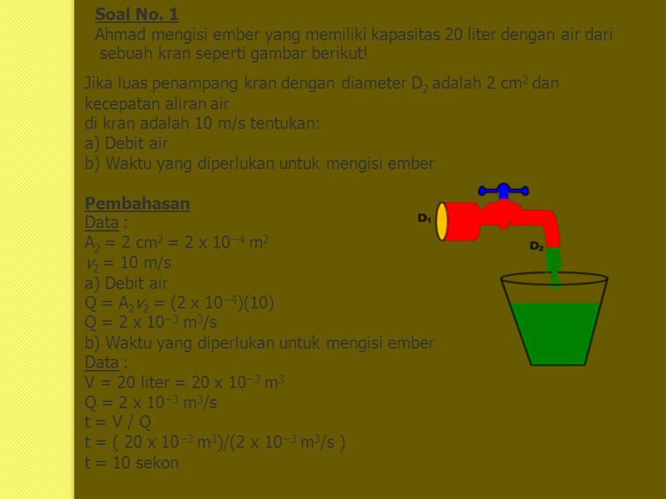 Contoh soal pembahasan mekanika fluida disusun oleh silfiana dewi 2 soal no ccuart Images