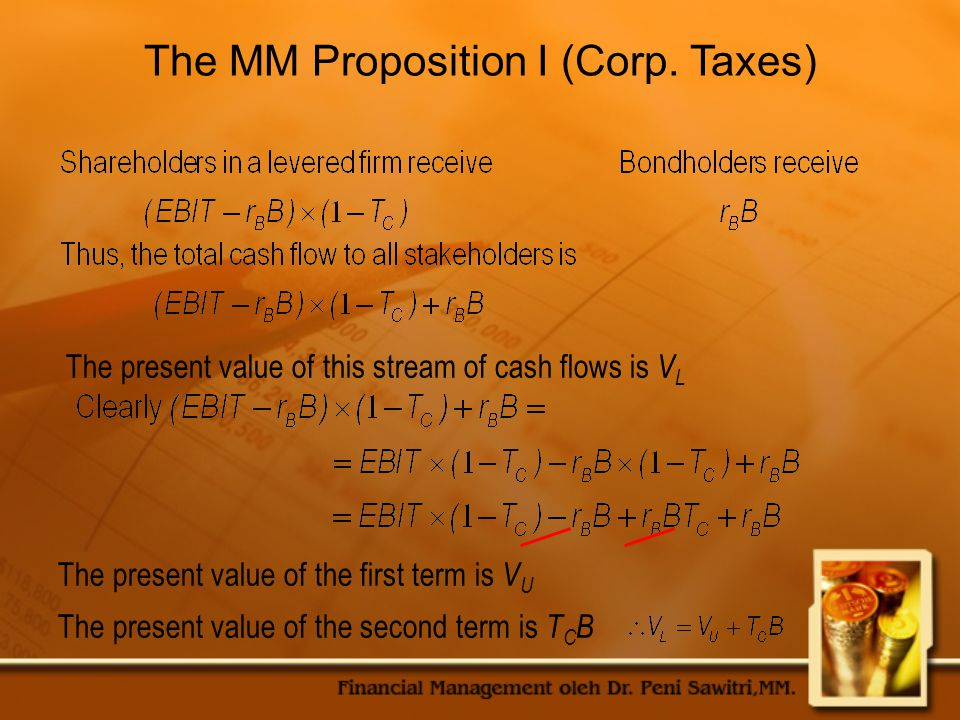 The MM Proposition I (Corp. Taxes)