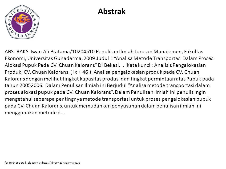 Penulisan Ilmiah Jurusan Manajemen Fakultas Ekonomi Universitas