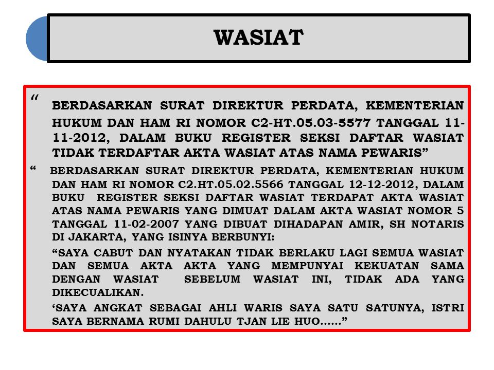 Surat Keterangan Warisan Ppt Download