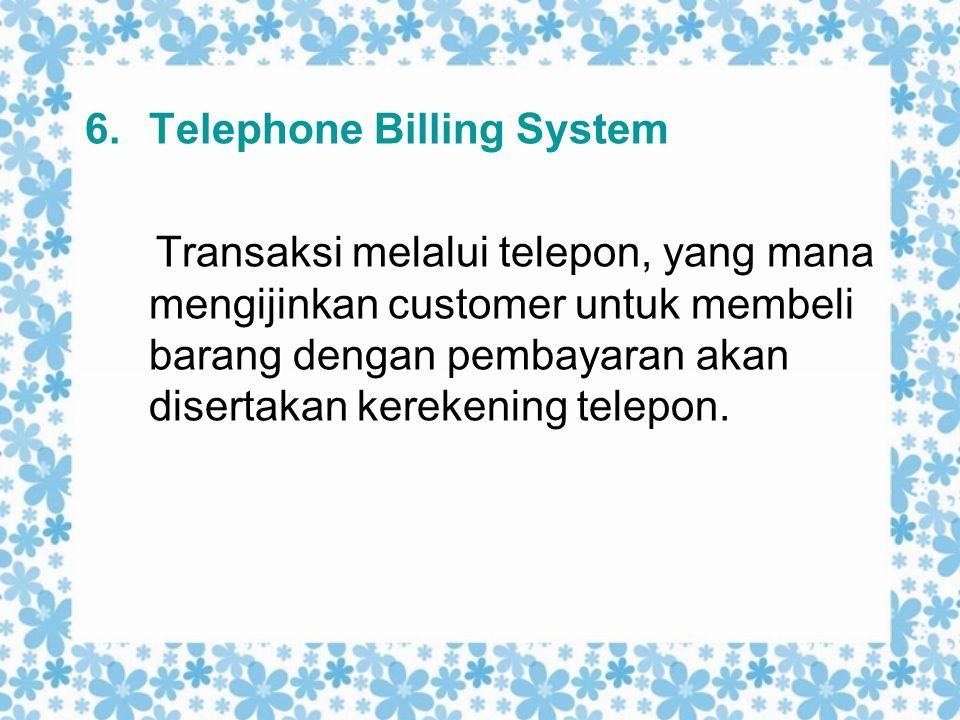 Telephone Billing System