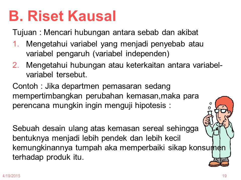 Desain Riset Deskriptif Dan Kausal Sebab Akibat Ppt Download