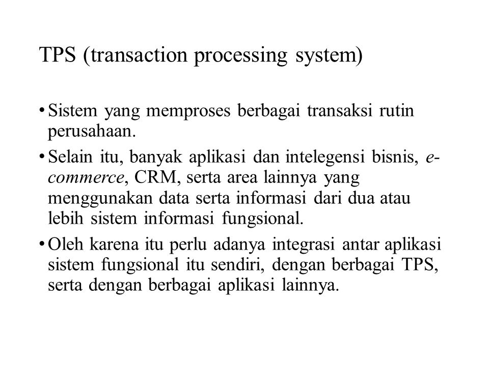 TPS (transaction processing system)