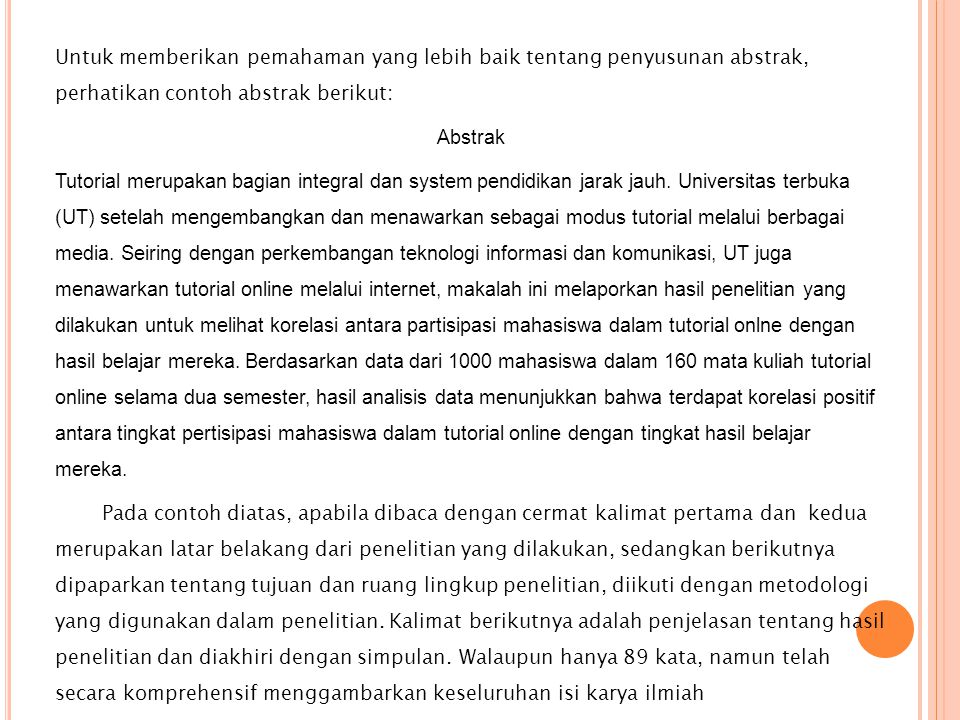 Abstrak Resensi Resume Sipsosis Karya Ilmiah Ppt Download