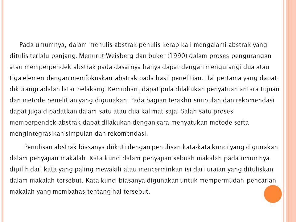 Abstrak Resensi Resume Sipsosis Karya Ilmiah Ppt Download