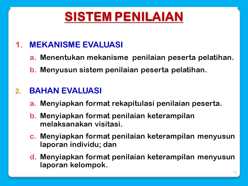 Strategi Dan Sistem Penilaian Pelatihan Asesor Sekolah Madrasah