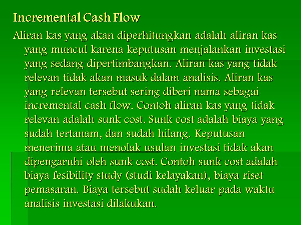 Incremental Cash Flow