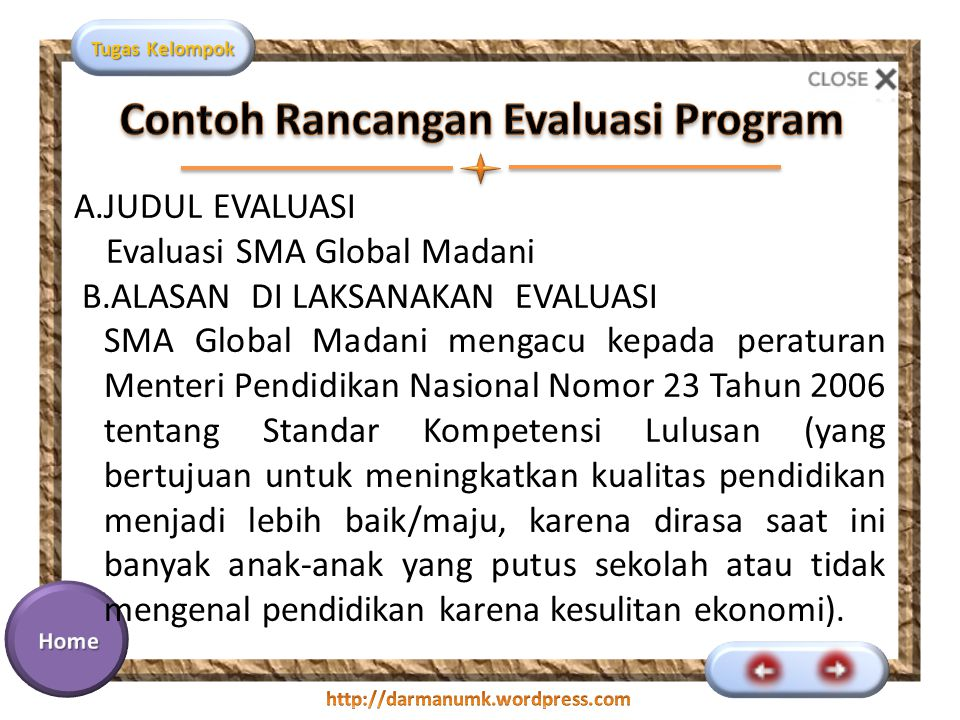 Rancangan Dan Perencanaan Evaluasi Program Ppt Download