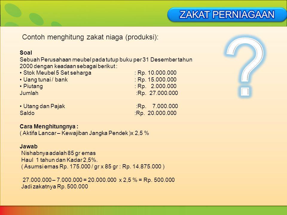 Contoh Soal Zakat