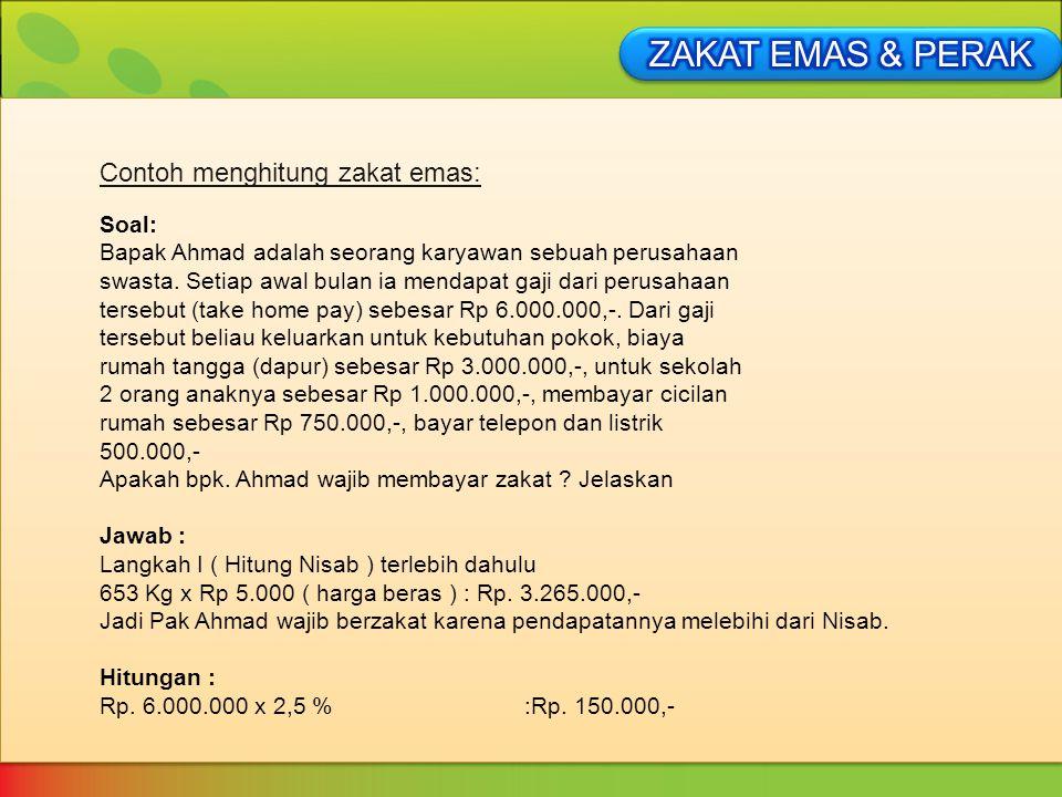Contoh Soal Zakat Fitrah