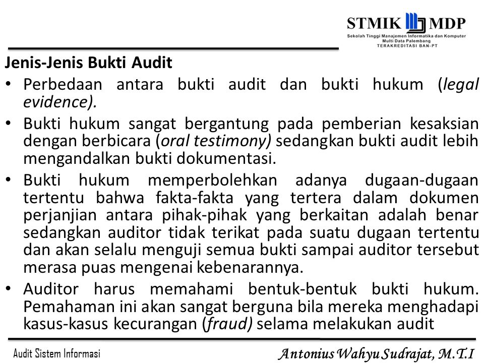 Jenis Jenis+Bukti+Audit - 8 Jenis Bukti Audit Dan Contohnya