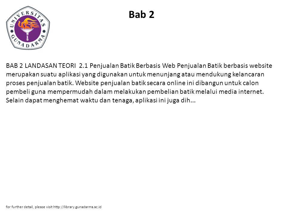 Promosi Batik Berbasis Web Dengan Menggunakan Php Yul Dwiyanti Ppt
