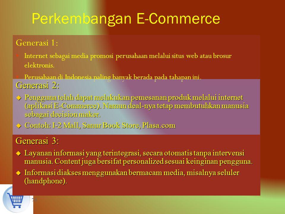 Perkembangan E Commerce Dan E Business Peluang Dan Permasalahan