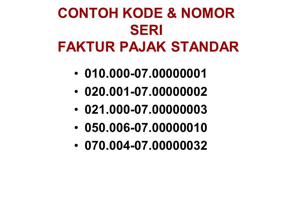 Faktur Pajak Standar Ppt Download