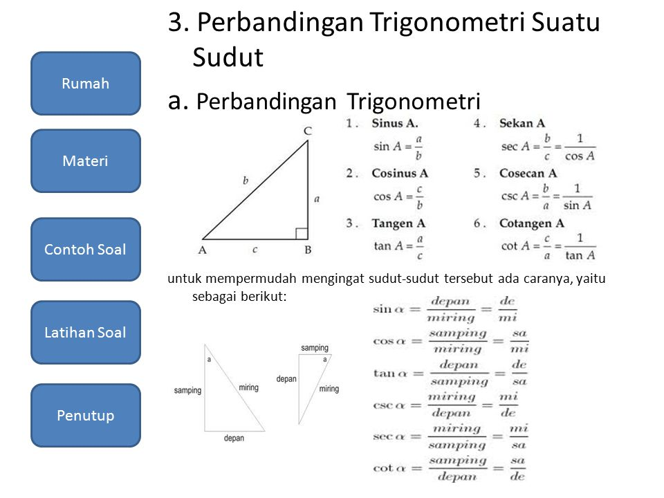 Trigonometri Pendahuluan Rumah Materi Contoh Soal Latihan Soal Penutup Ppt Download