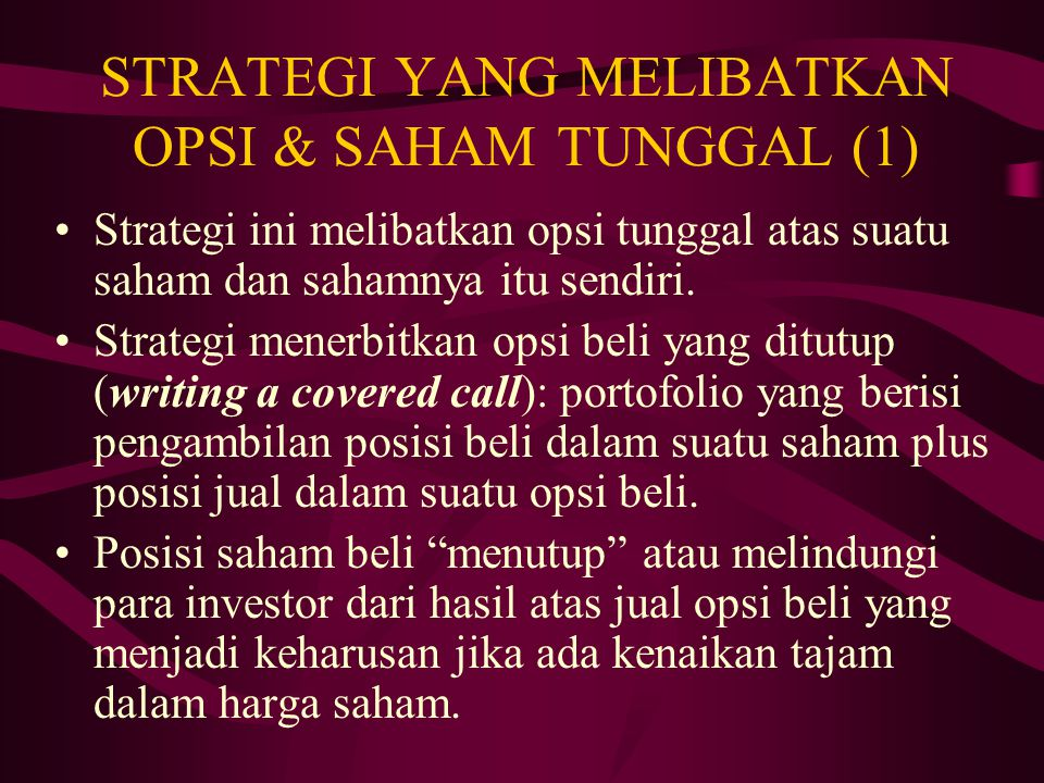 Apa itu Strategi Perdagangan ?