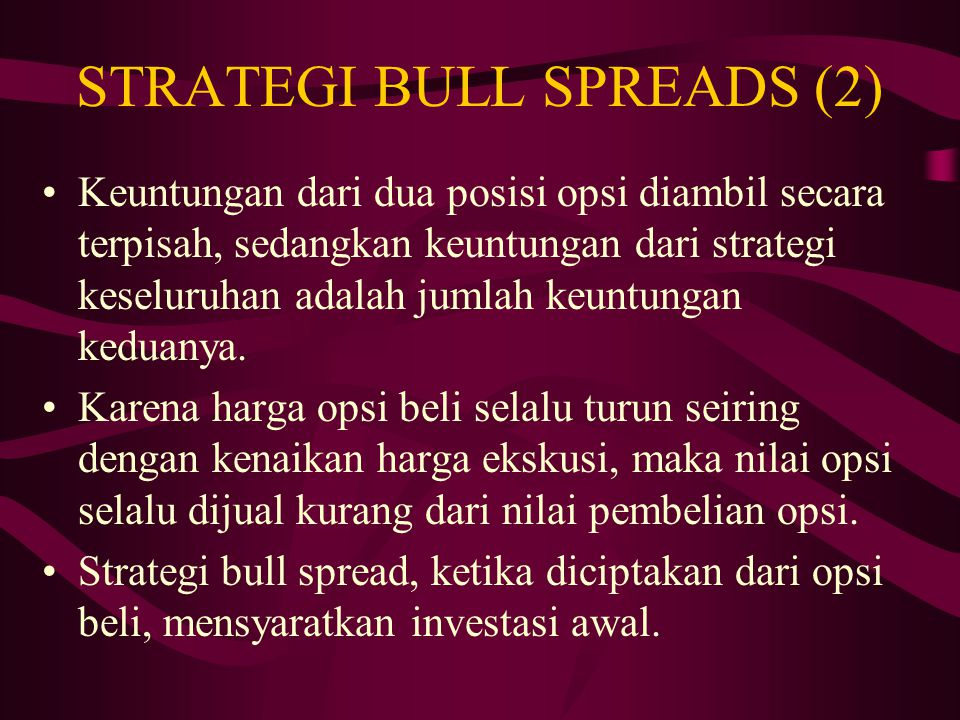 Memahami Strategi Opsi Bull Spread | Strategi penargetan bull spread - 2020 - Talkin go money