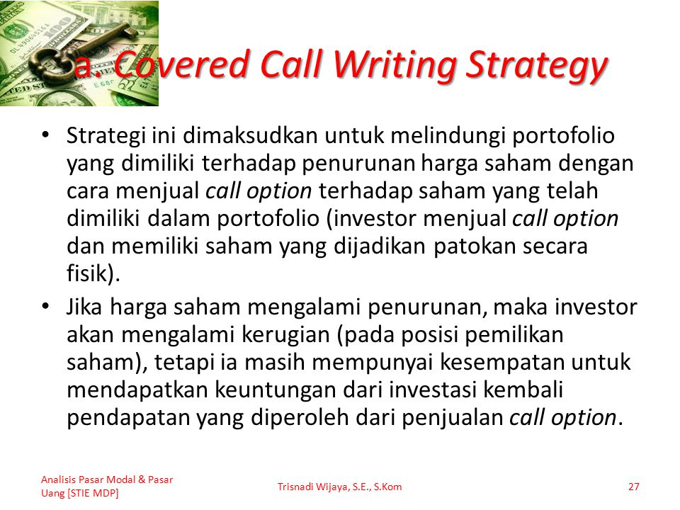 a. Covered Call Writing Strategy