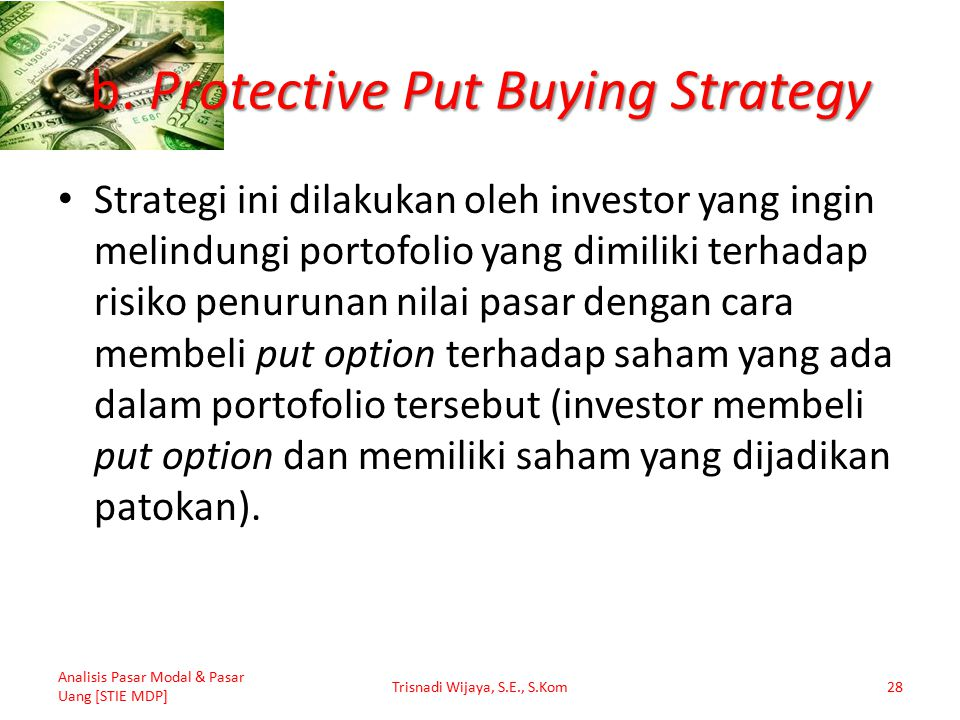 b. Protective Put Buying Strategy