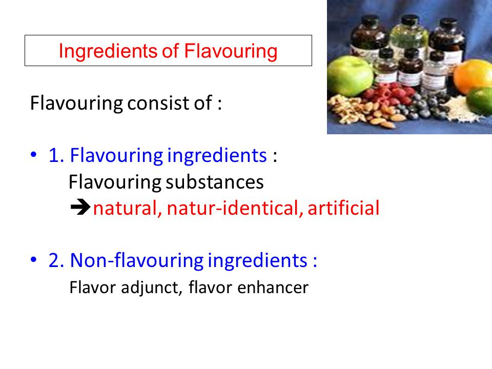Ingredients of Flavouring